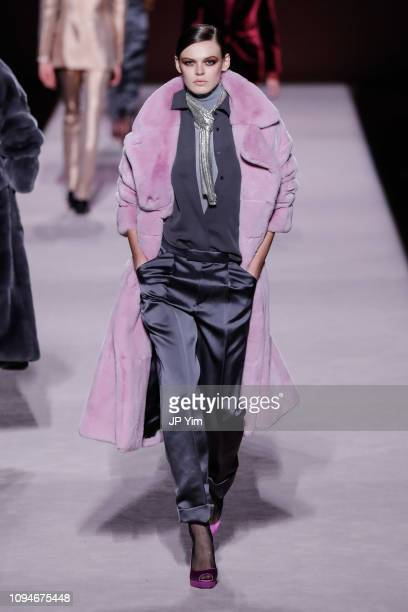 A model walks the runway at the Tom Ford Autumn/Winter 2019 Collection on February 6 2019 in New York City