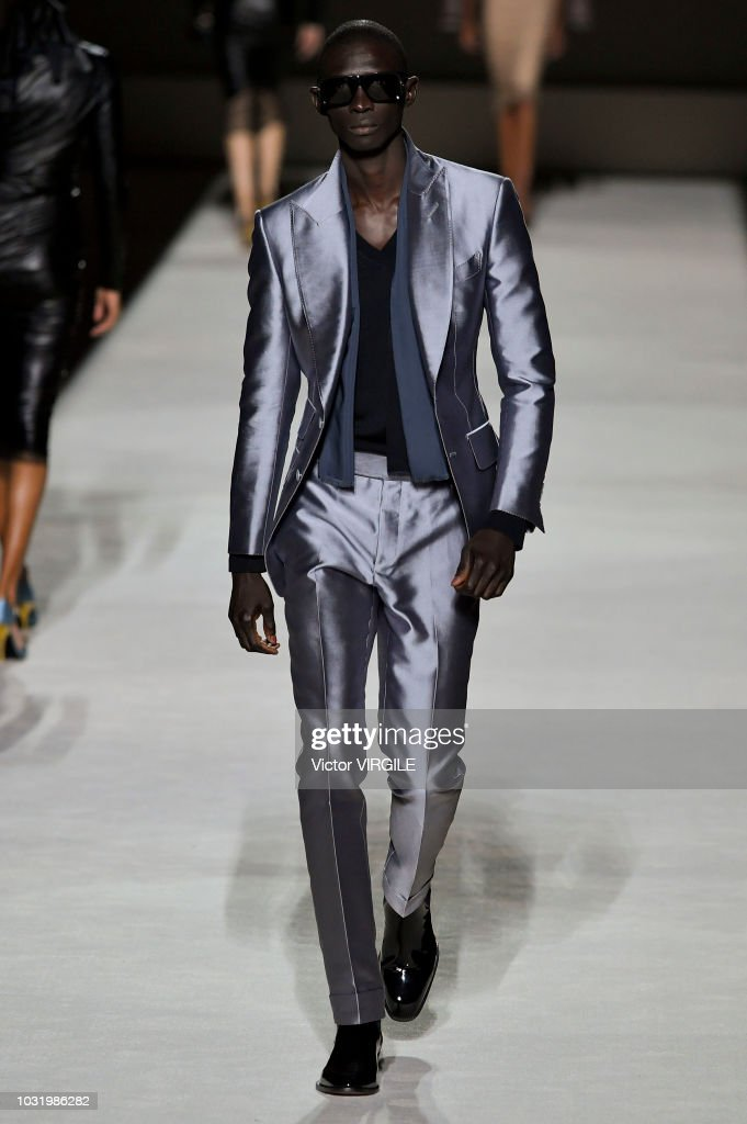 A model walks the runway at the Tom Ford fashion show during New York Fashion Week Spring/Summer 2019 on September 5, 2018 in New York City.