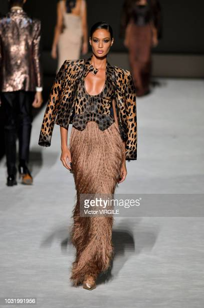 A model walks the runway at the Tom Ford fashion show during New York Fashion Week Spring/Summer 2019 on September 5 2018 in New York City