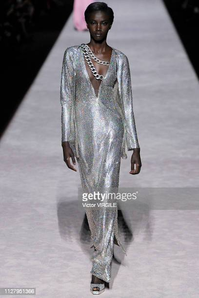 A model walks the runway at the Tom Ford Ready to Wear Autumn/Winter 20192020 fashion show on February 6 2019 in New York City