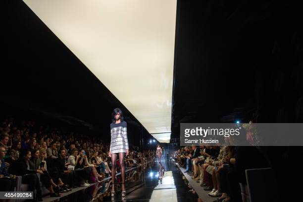 A model walks the runway at the TOM FORD show during London Fashion Week Spring Summer 2015 on September 15 2014 in London England