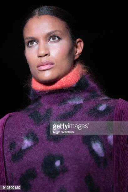 A model walks the runway at the Tom Wood show during the Fashion Week Oslo 2018 at DOGA on January 26 2018 in Oslo Norway