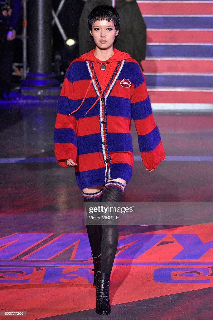 A model walks the runway at the Tommy Hilfiger Ready to Wear Spring/Summer 2018 fashion show during London Fashion Week September 2017 on September 19, 2017 in London, England