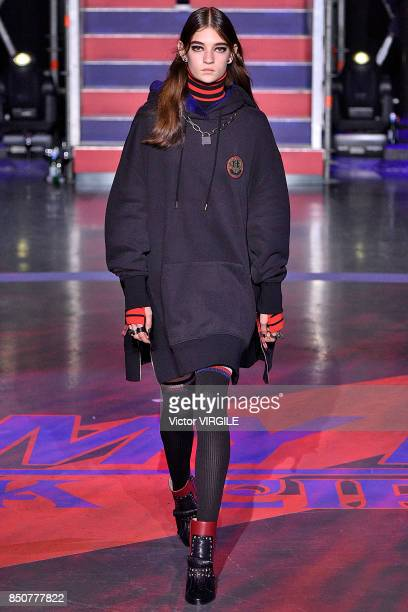 A model walks the runway at the Tommy Hilfiger Ready to Wear Spring/Summer 2018 fashion show during London Fashion Week September 2017 on September...