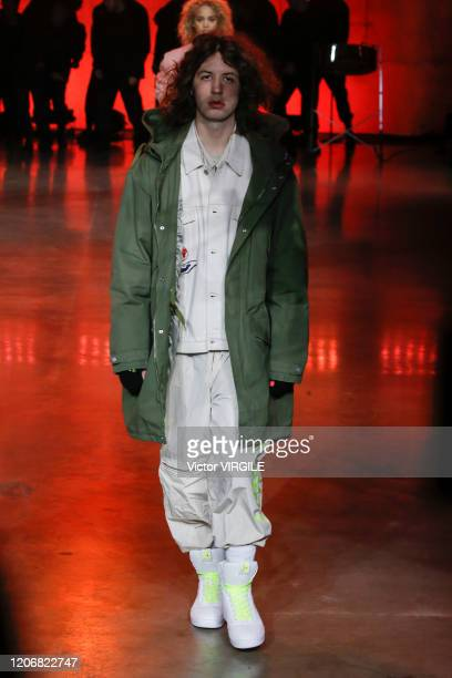A model walks the runway at the Tommy Hilfiger Ready to Wear Spring/Summer 2020 fashion show during London Fashion Week on February 16 2020 in London...