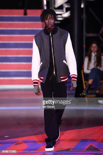 A model walks the runway at the Tommy Hilfiger TOMMYNOW Fall 2017 Show during London Fashion Week September 2017 at the Roundhouse on September 19...
