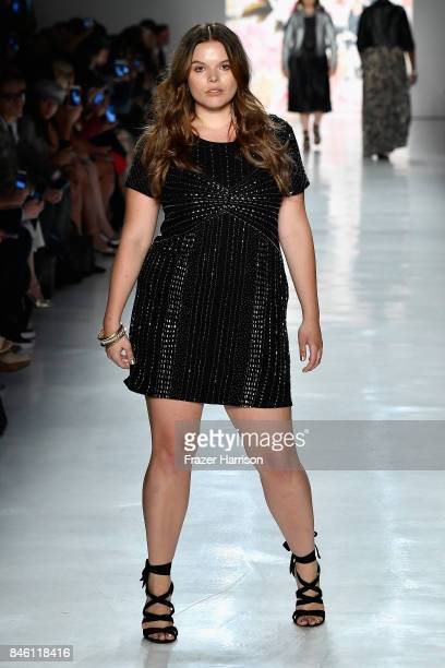 A model walks the runway at the Torrid fashion show during New York Fashion Week The Shows at Gallery 3 Skylight Clarkson Sq on September 12 2017 in...