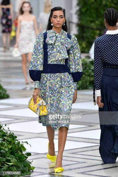 Model walks the runway at the Tory Burch Ready to Wear Spring/Summer 2020 fashion show during New York Fashion Week on September 08, 2019 in New York...