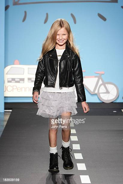 A model walks the runway at the Total Girl TG preview during JCPenney showcase at petiteParade Kids Fashion Week in Collaboration with VOGUEbambini...