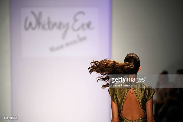 Model walks the runway at the TRESemme at Whitney Eve Spring 2010 Fashion Show at the Promenade during Mercedes-Benz Fashion Week at Bryant Park on...