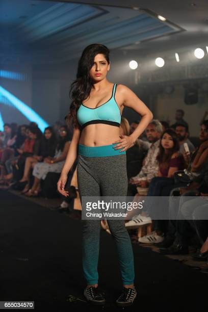 A model walks the runway at the Triumph International show during India Intimate Fashion Week 2017 at Hotel Leela on March 18 2017 in Mumbai India