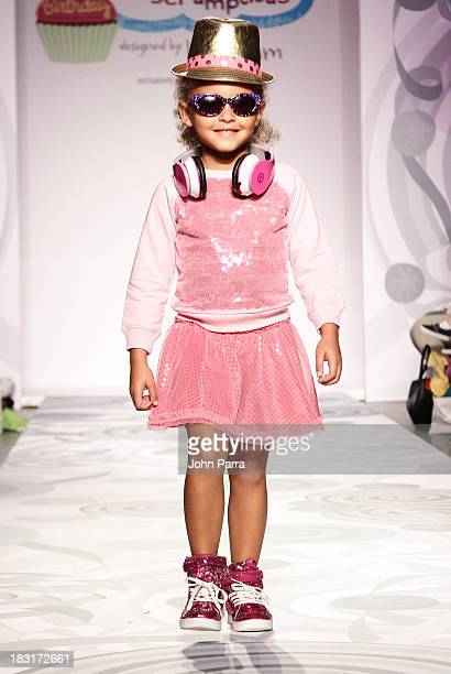 "Model walks the runway at the Truly Scrumptious for Babies ""R"" Us designed by Heidi Klum at Vogue Bambini petiteParade Kids Fashion Week on October..."