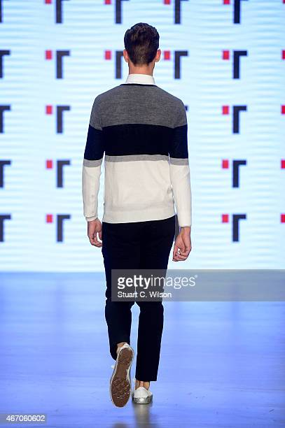 A model walks the runway at the Tween show during Mercedes Benz Fashion Week Istanbul FW15 on March 20 2015 in Istanbul Turkey