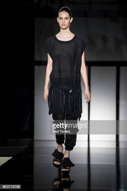 A model walks the runway at the Txell Miras show during the Barcelona 080 Fashion Week on June 27 2017 in Barcelona Spain