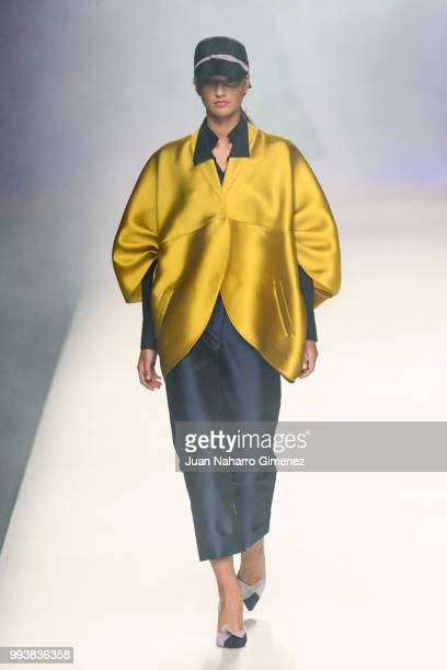 A model walks the runway at the Ulises Merida show during the MercedesBenz Fashion Week Madrid Spring/Summer 2019 at IFEMA on July 8 2018 in Madrid...