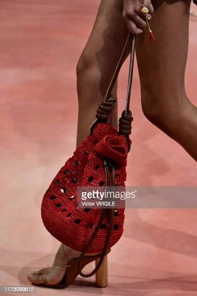 Model walks the runway at the Ulla Johnson Ready to Wear Spring/Summer 2020 fashion show during New York Fashion Week on September 07, 2019 in New...
