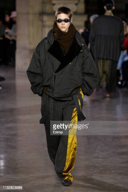 8c1bff4b020 A model walks the runway at the Uma Wang show at Paris Fashion Week Autumn
