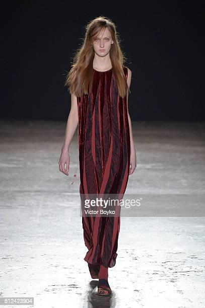 130e02b7f8c A model walks the runway at the Uma Wang show during Milan Fashion Week  Fall