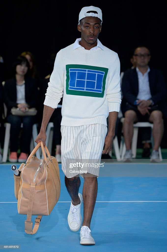 A model walks the runway at the Umit Benan Spring Summer 2015 fashion show during Paris Menswear Fashion Week on June 29, 2014 in Paris, France.