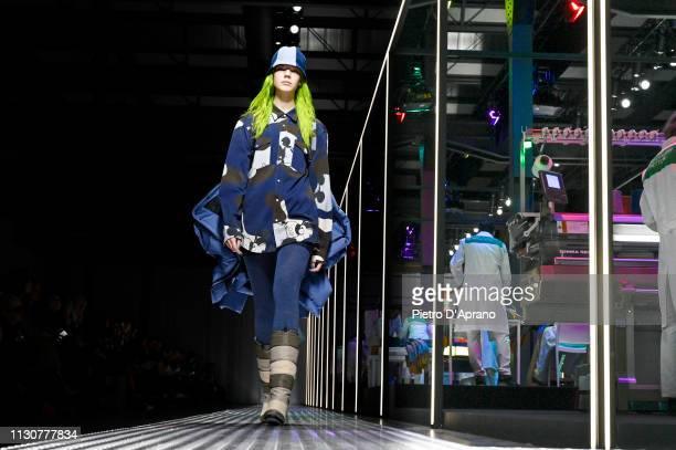 A model walks the runway at the United Colours Of Benetton show at Milan Fashion Week Autumn/Winter 2019/20 on February 19 2019 in Milan Italy