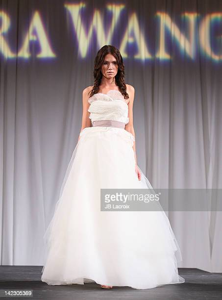 Model walks the runway at the 'Unveiled: Bridal Style Revealed' fashion show featuring the Vera Wang 2012 bridal collection at Beverly Canon Gardens...