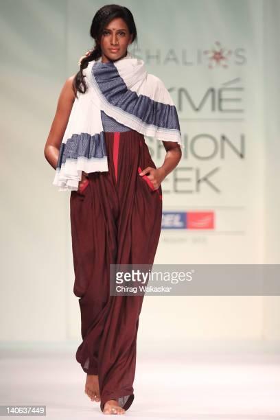Model walks the runway at the Vaishali S show at Lakme Fashion Week Summer/Resort 2012 Day 3 at the Grand Hyatt on March 4, 2012 in Mumbai, India.