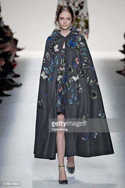 A model walks the runway at the Valentino Autumn Winter 2014 fashion show during Paris Fashion Week on March 4 2014 in Paris France