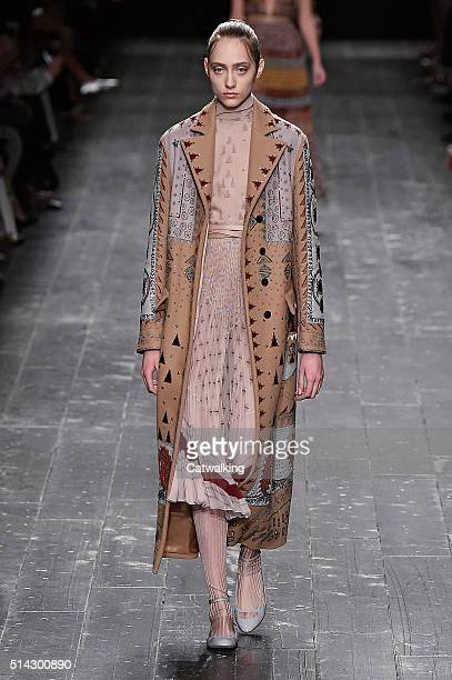 A model walks the runway at the Valentino Autumn Winter 2016 fashion show during Paris Fashion Week on March 8 2016 in Paris France