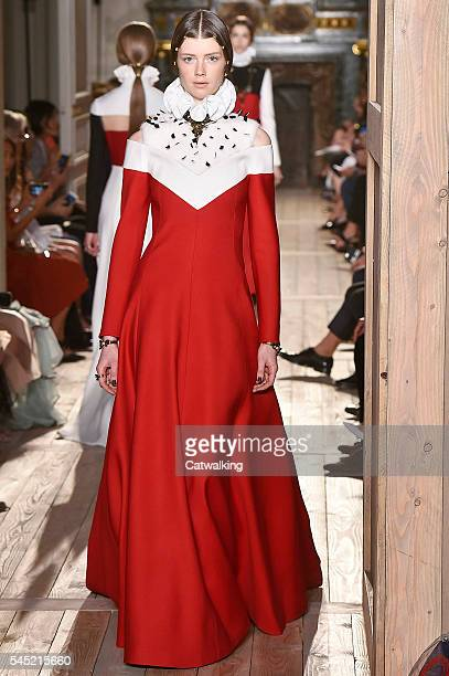 A model walks the runway at the Valentino Autumn Winter 2016 fashion show during Paris Haute Couture Fashion Week on July 6 2016 in Paris France
