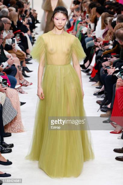 Model walks the runway at the Valentino show at Paris Fashion Week Autumn/Winter 2019/20 on March 3, 2019 in Paris, France.