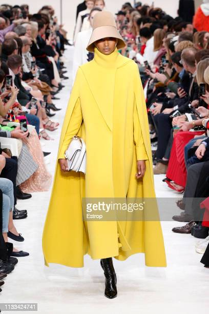 A model walks the runway at the Valentino show at Paris Fashion Week Autumn/Winter 2019/20 on March 3 2019 in Paris France