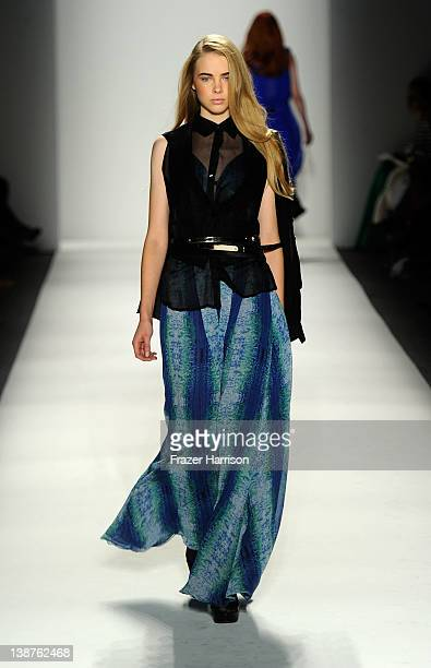 A model walks the runway at the Vantan Tokyo Fall 2012 fashion show during MercedesBenz Fashion Week at The Studio at Lincoln Center on February 11...