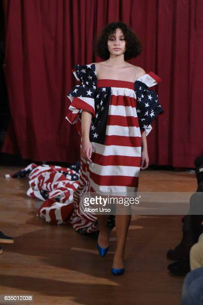 A model walks the runway at the Vaquera fashion show during New York Fashion Week on February 12 2017 in New York City