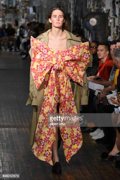 A model walks the runway at the Vaquera fashion show during New York Fashion Week on September 12 2017 in New York City