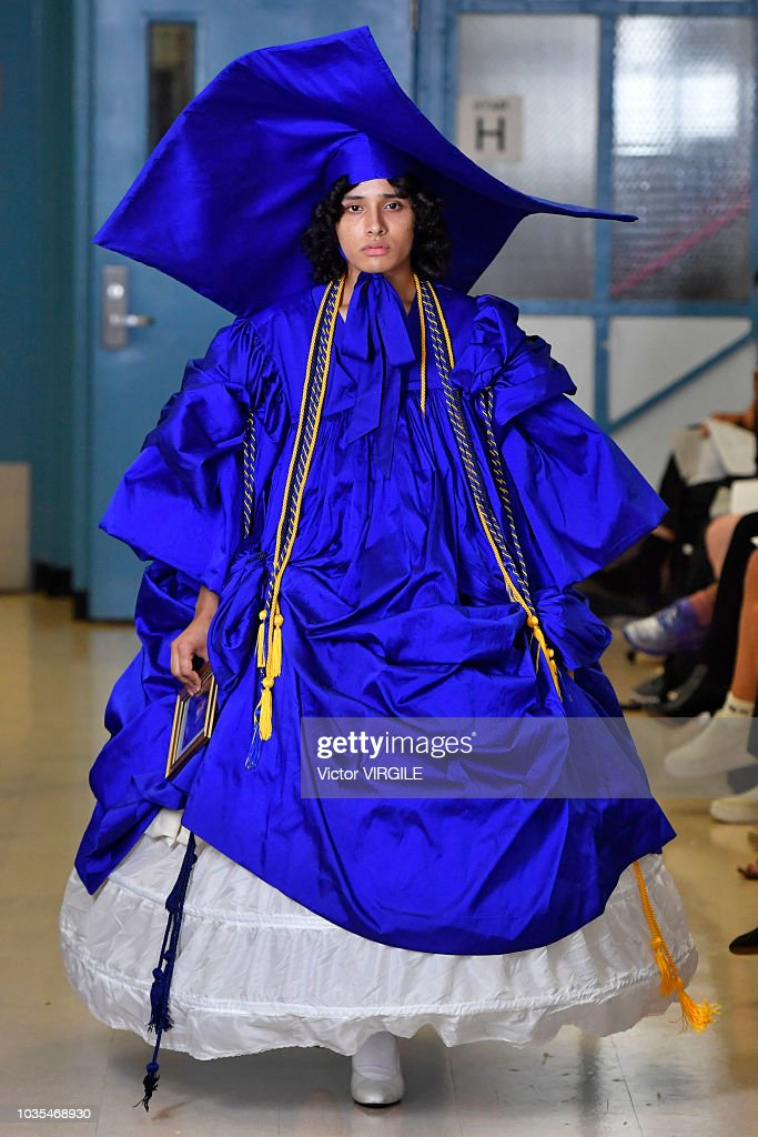 A model walks the runway at the Vaquera Ready to Wear Spring/Summer 2019 fashion show during New York Fashion Week on September 11, 2018 in New York City.