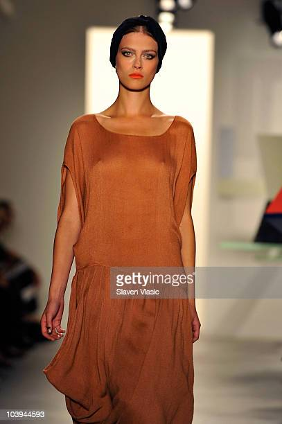 A model walks the runway at the Vena Cava Spring 2011 fashion show during MercedesBenz Fashion Week at Milk Studios on September 9 2010 in New York...
