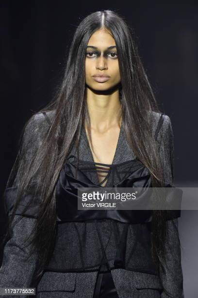 Model walks the runway at the Vera Wang Ready to Wear Spring/Summer 2020 fashion show during New York Fashion Week on September 10, 2019 in New York...