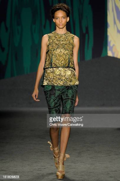 A model walks the runway at the Vera Wang Spring Summer 2013 fashion show during New York Fashion Week on September 11 2012 in New York United States