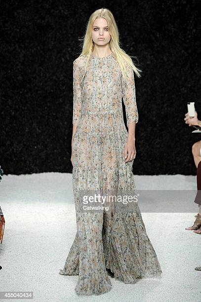 A model walks the runway at the Vera Wang Spring Summer 2015 fashion show during New York Fashion Week on September 9 2014 in New York United States