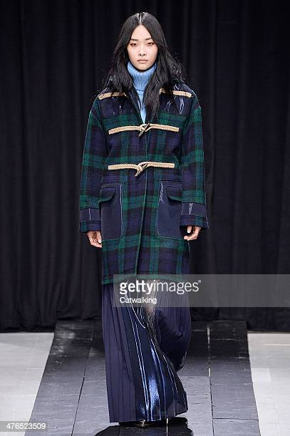Model walks the runway at the Veronique Branquinho Autumn Winter 2014 fashion show during Paris Fashion Week on March 3, 2014 in Paris, France.