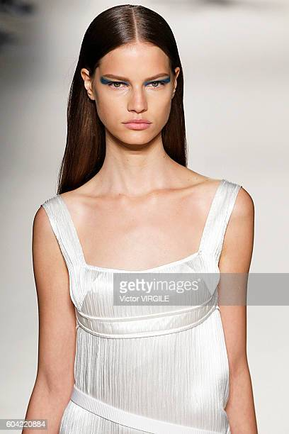 A model walks the runway at the Victoria Beckham Ready to Wear Spring Summer Ready to Wear 2017 Women's Fashion Show during New York Fashion Week on...