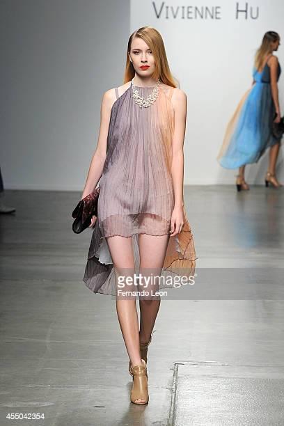 A Model Walks The Runway At The Vivienne Hu Fashion Show During Mercedesbenz Fashion Week Spring