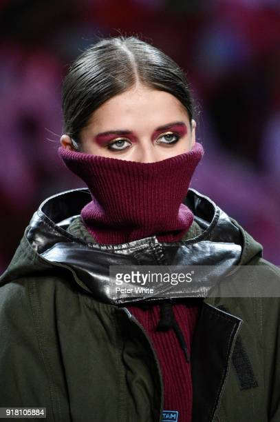 A model walks the runway at the Vivienne Tam show during New York Fashion Week at Gallery I at Spring Studios on February 13 2018 in New York City