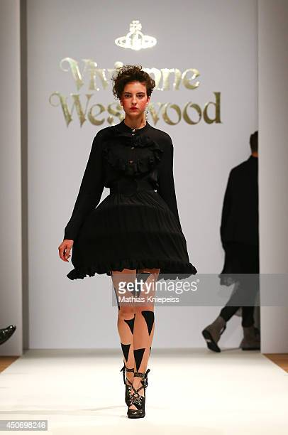 A model walks the runway at the Vivienne Westwood fashion show during the Vienna Fashion Night 2014 on June 12 2014 in Vienna Austria