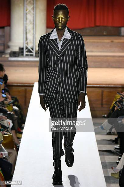 A model walks the runway at the Vivienne Westwood Ready to Wear Fall/Winter 20192020 fashion show during London Fashion Week February 2019 on...