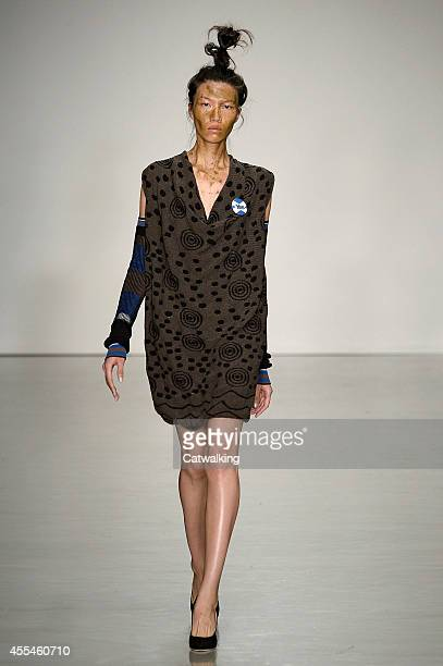 A model walks the runway at the Vivienne Westwood Red Label Spring Summer 2015 fashion show during London Fashion Week on September 14 2014 in London...