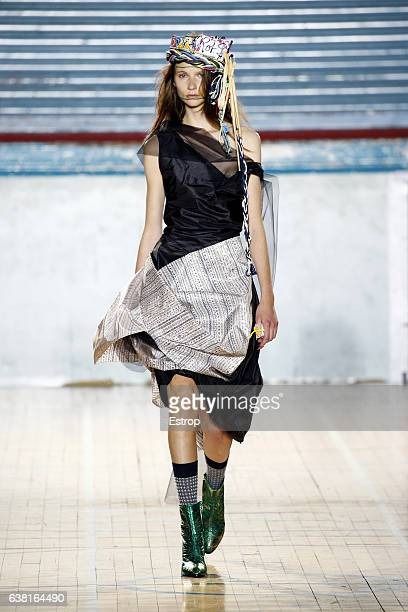 Model walks the runway at the Vivienne Westwood show during London Fashion Week Men's January 2017 collections at BFC Show Space on January 9, 2017...