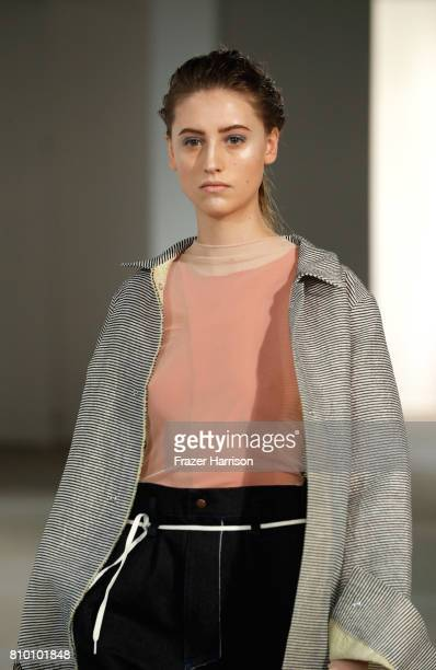 A model walks the runway at the Vladimir Karaleev show during the MercedesBenz Fashion Week Berlin Spring/Summer 2018 at Kaufhaus Jandorf on July 7...