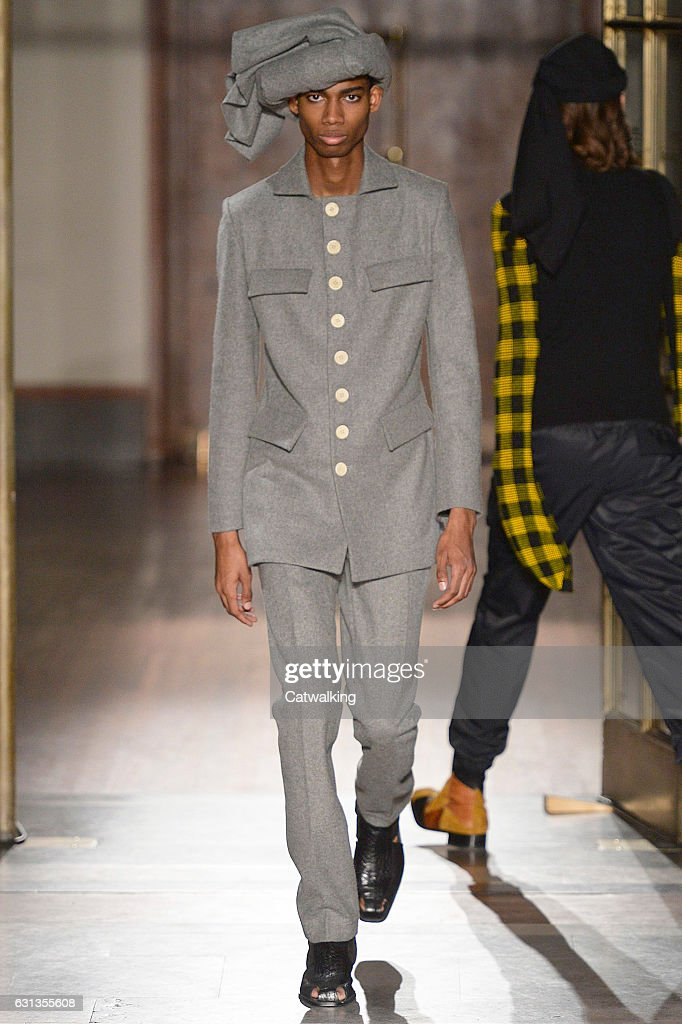 Wales Bonner - Mens Fall 2017 Runway - London Menswear Fashion Week : News Photo