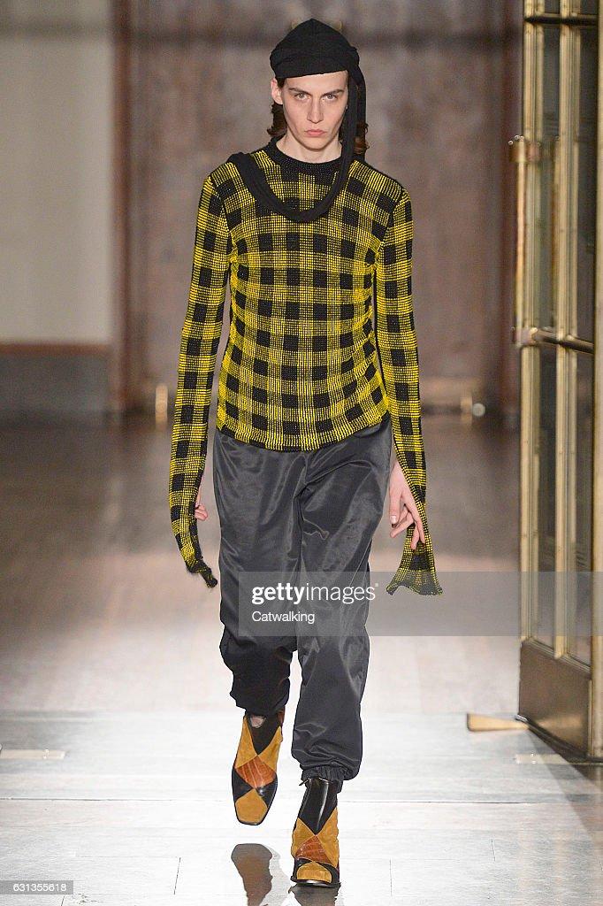 Wales Bonner - Mens Fall 2017 Runway - London Menswear Fashion Week : News Photo